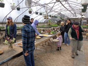 Farm Tour participants tour the greenhouse